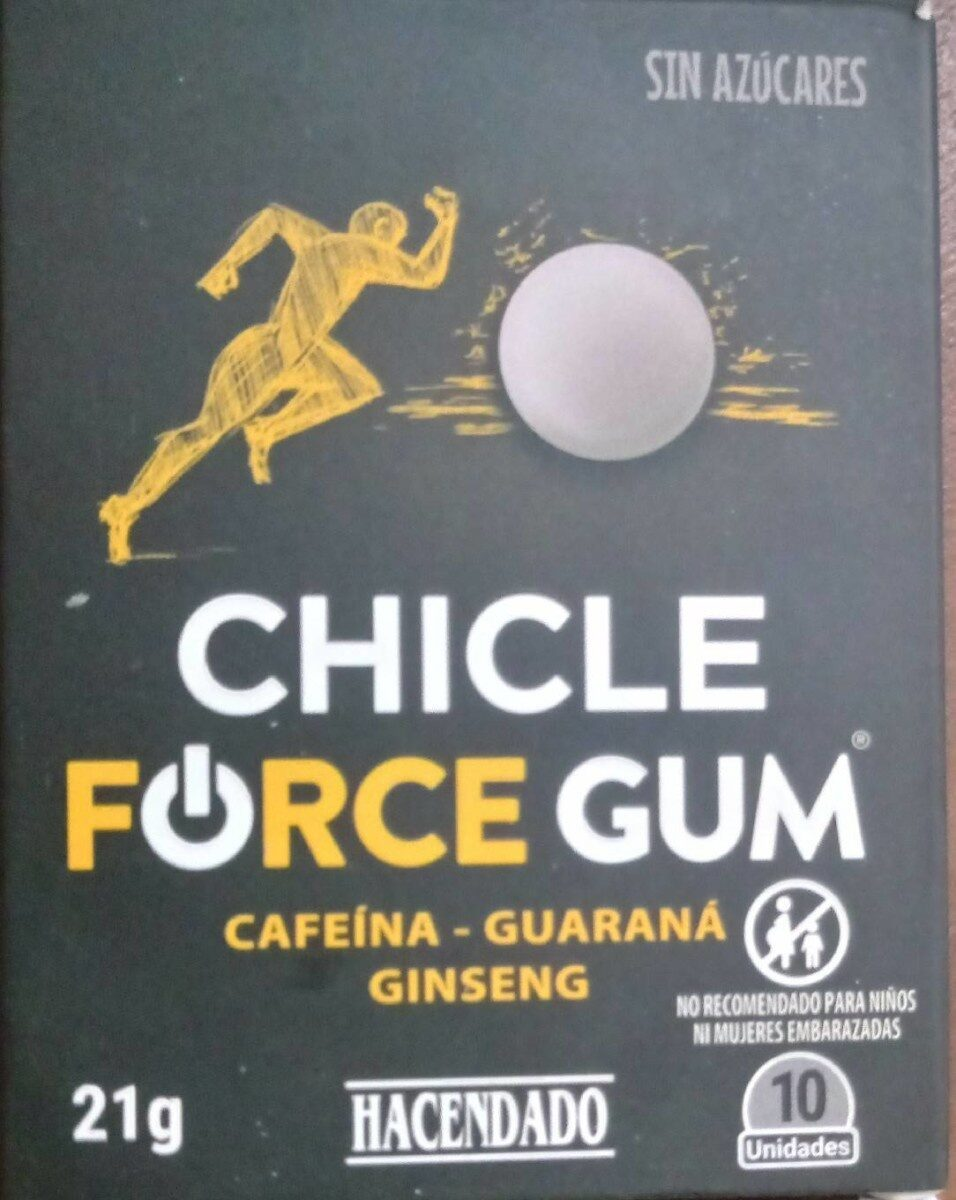 Chicle force gum - Product - es
