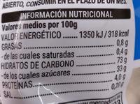 rega black - Informació nutricional
