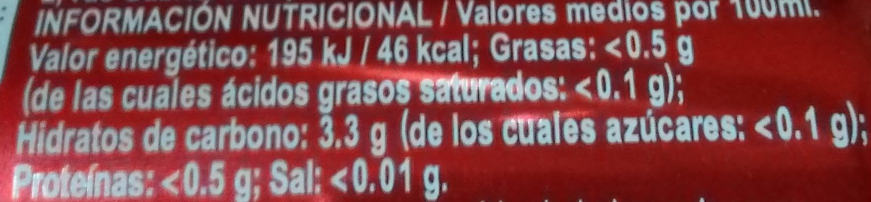 Cerveza Especial - Voedingswaarden - es