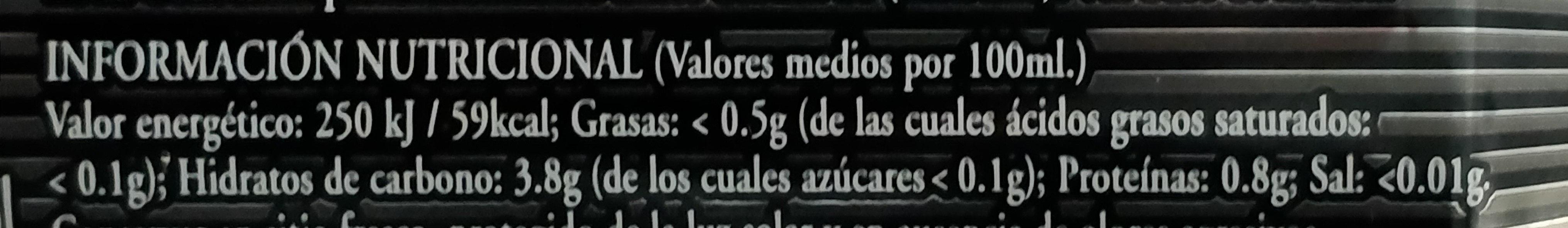 Cerveza negra Steinburg - Información nutricional