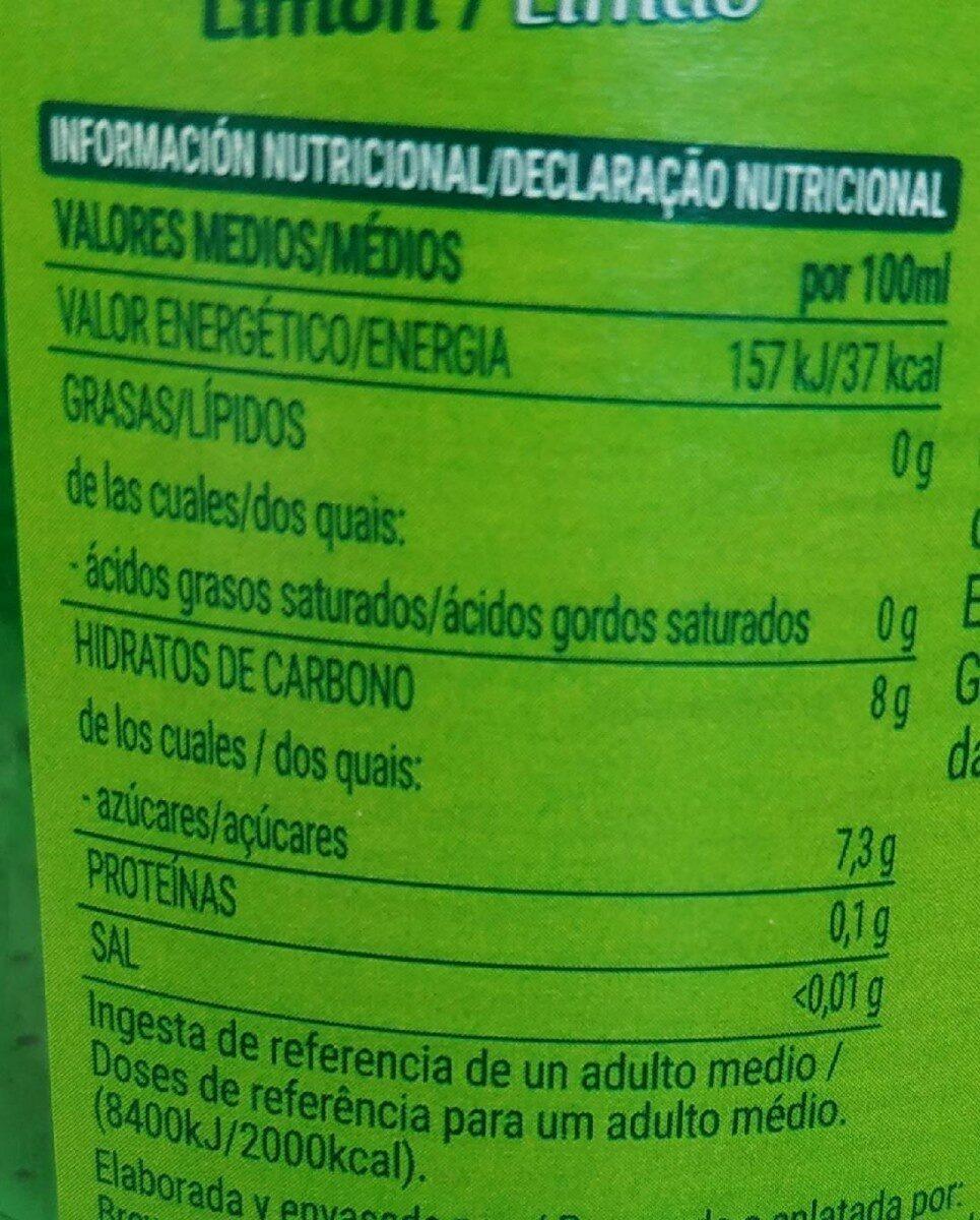 Shandy Sabor a Limón - Nutrition facts