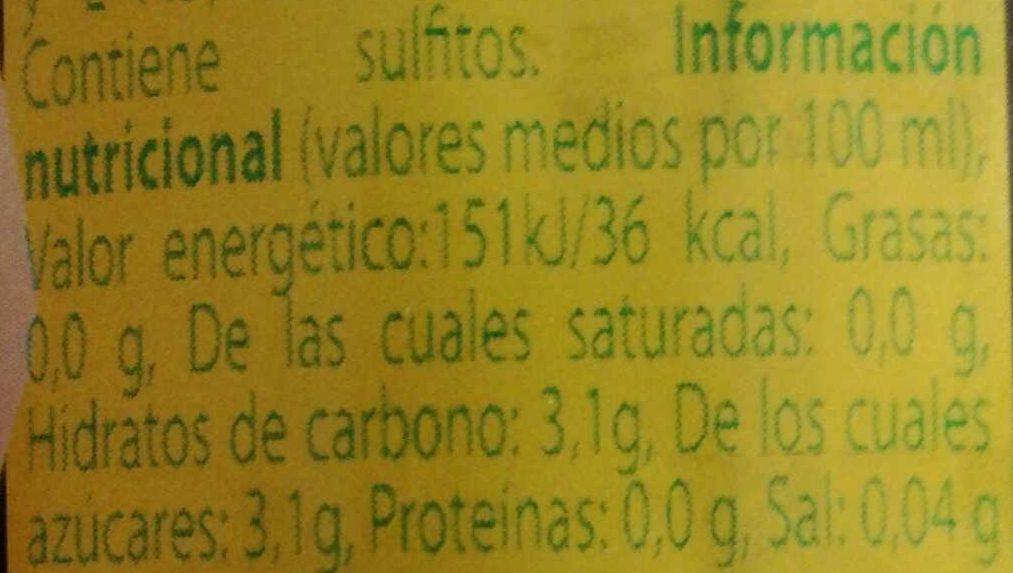 Tinto de verano sabor limón - Información nutricional