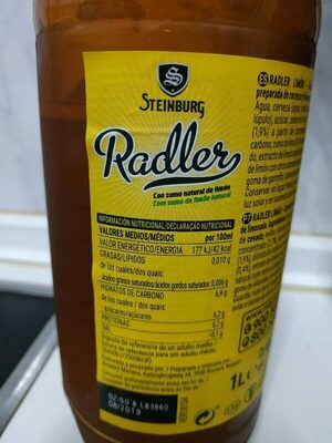 radler limon - Información nutricional