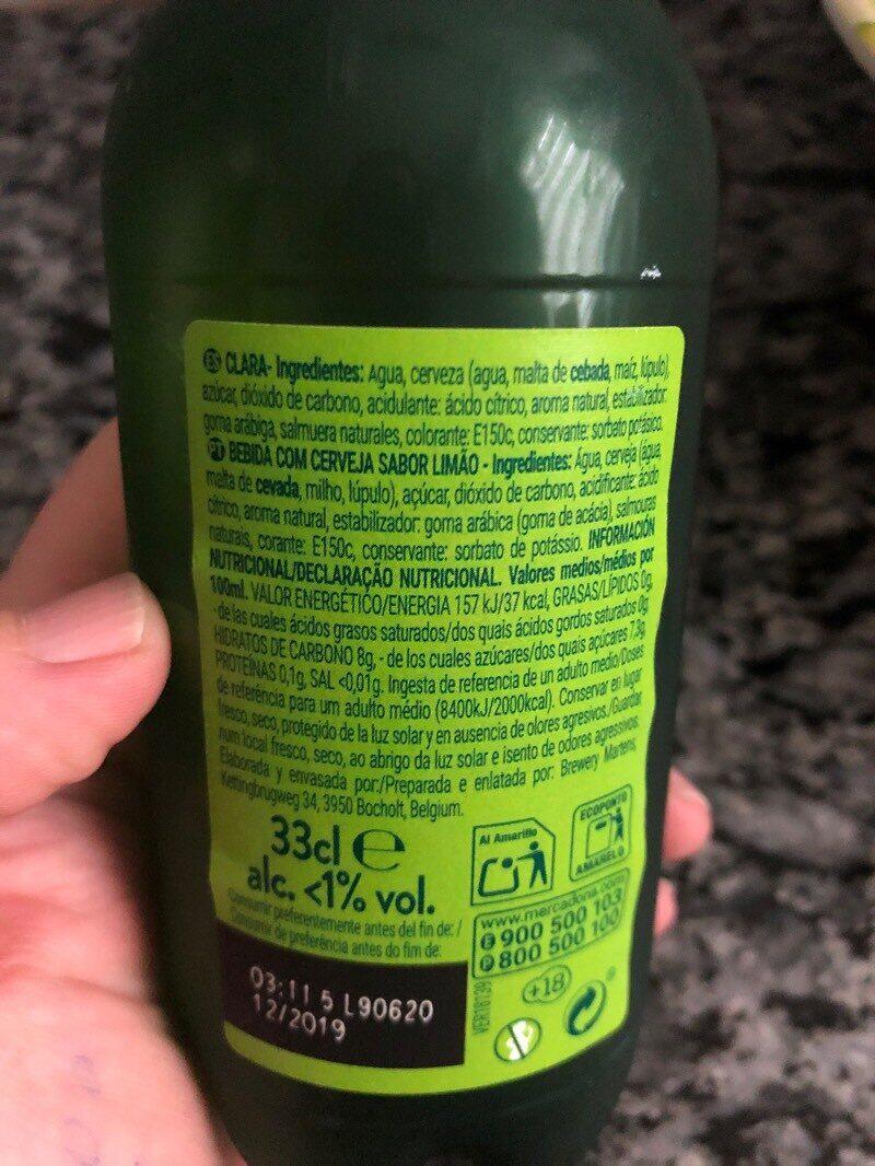 Shandy steinburg limon - Ingredients