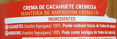 Crema de cacahuete - Ingredients - es