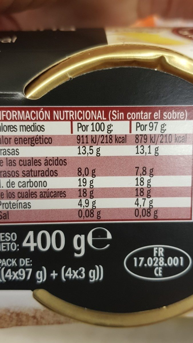 Crème Catalane - Ingredientes