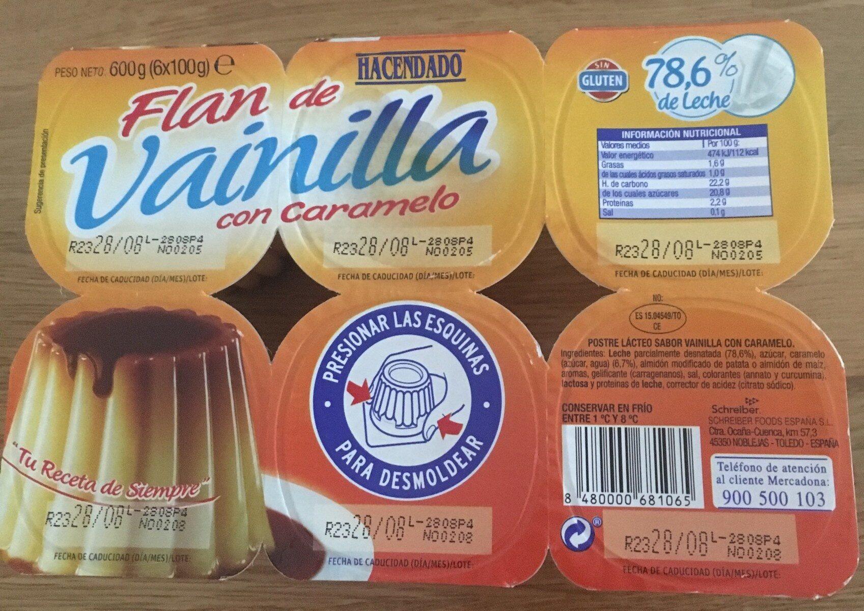Flan de vanilla - Producte - es