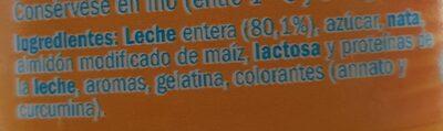 Natillas , Vanilla - Ingredients