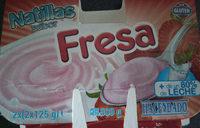 Natillas sabor fresa - Producto