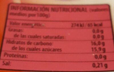 Gellytina - Informació nutricional - es
