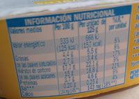 Natillas sabor vainilla - Nutrition facts - es