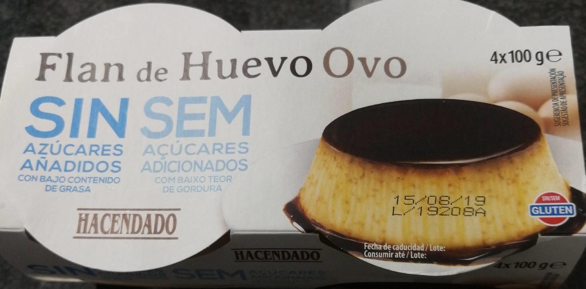 Flan de huevo sin azucares - Producto - es