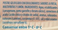 Gellytina sobores fresa, multifrutas y limon - Ingrediënten