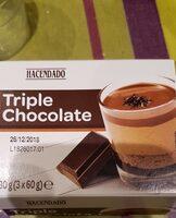 Postre triple chocolate - Producto