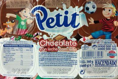 Petit chocolate con leche - Producte