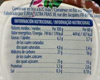 Petit chocolate con leche - Informació nutricional