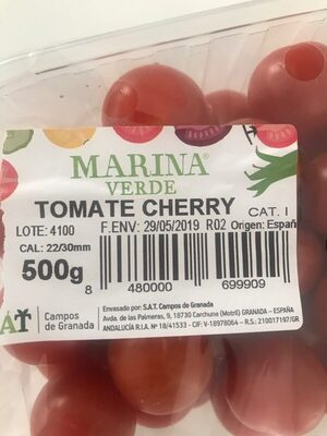 Tomate cherry - Informations nutritionnelles - es
