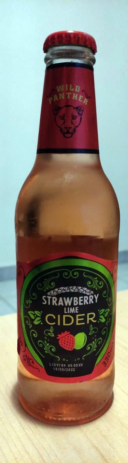 Strawberry Lime Cider - Producte - es