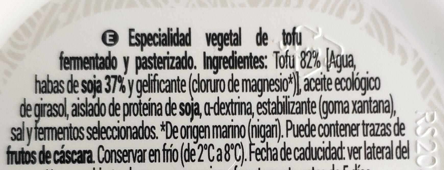 Crema de Tofu - Ingredienti - es