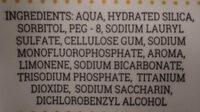 Anticaries con flúor - Ingrédients - es