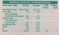 Huesos y articulaciones - Informations nutritionnelles - es