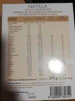 Natilla sabor chocolate sustitutiva - Nutrition facts - en