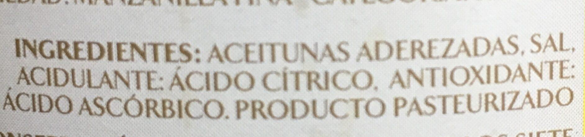 Manzanilla con hueso - Ingredients