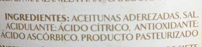 Manzanilla con hueso - Ingredientes