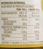Manzanilla con hueso - Informació nutricional