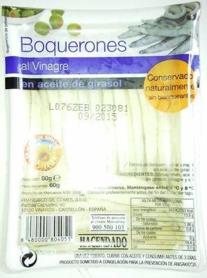 Boquerones al vinagre en aceite de girasol - Produit