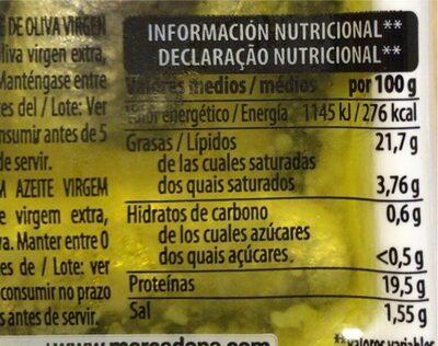 Sardina Marinada - Información nutricional - es