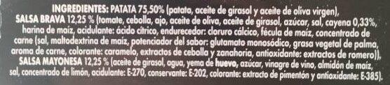Patatas bravas - Ingrédients - es
