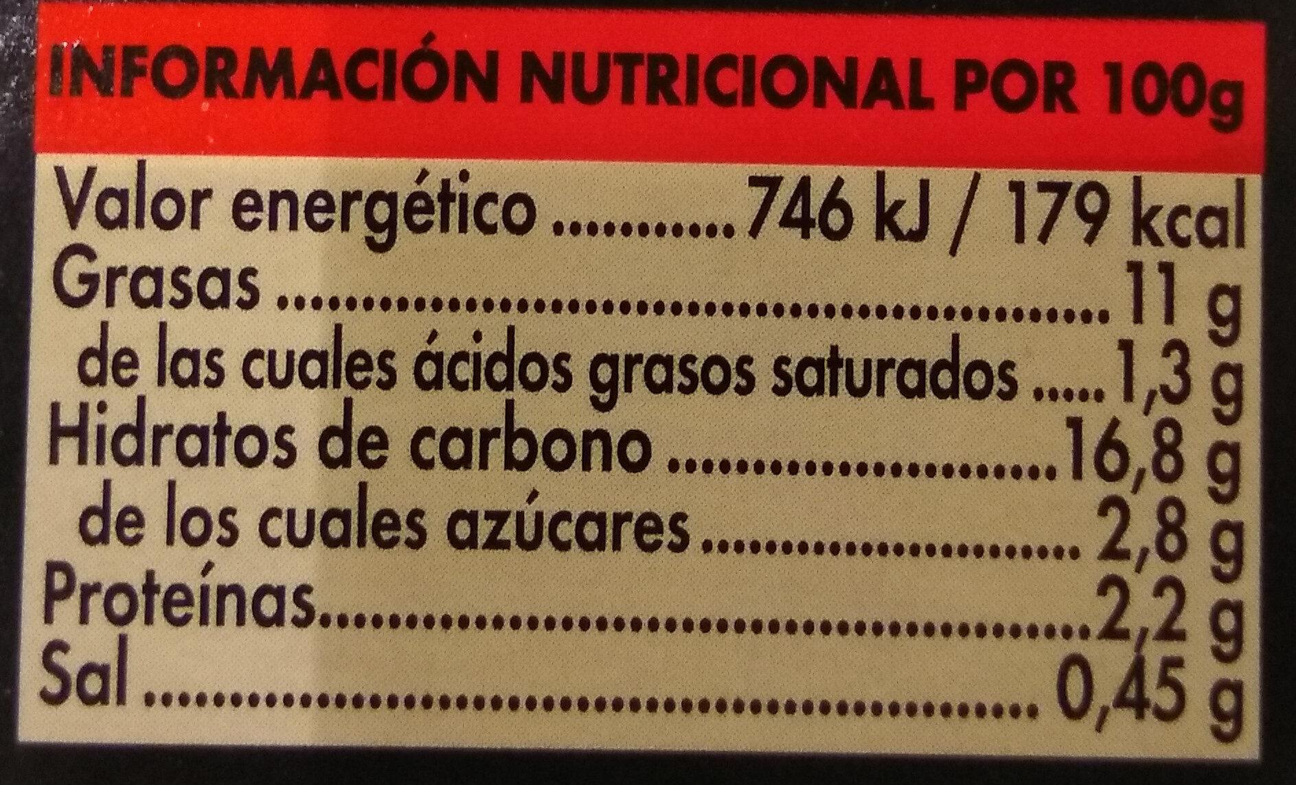 Patatas bravas - Informations nutritionnelles - es