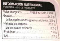 Patatas con Allioli - Información nutricional - es