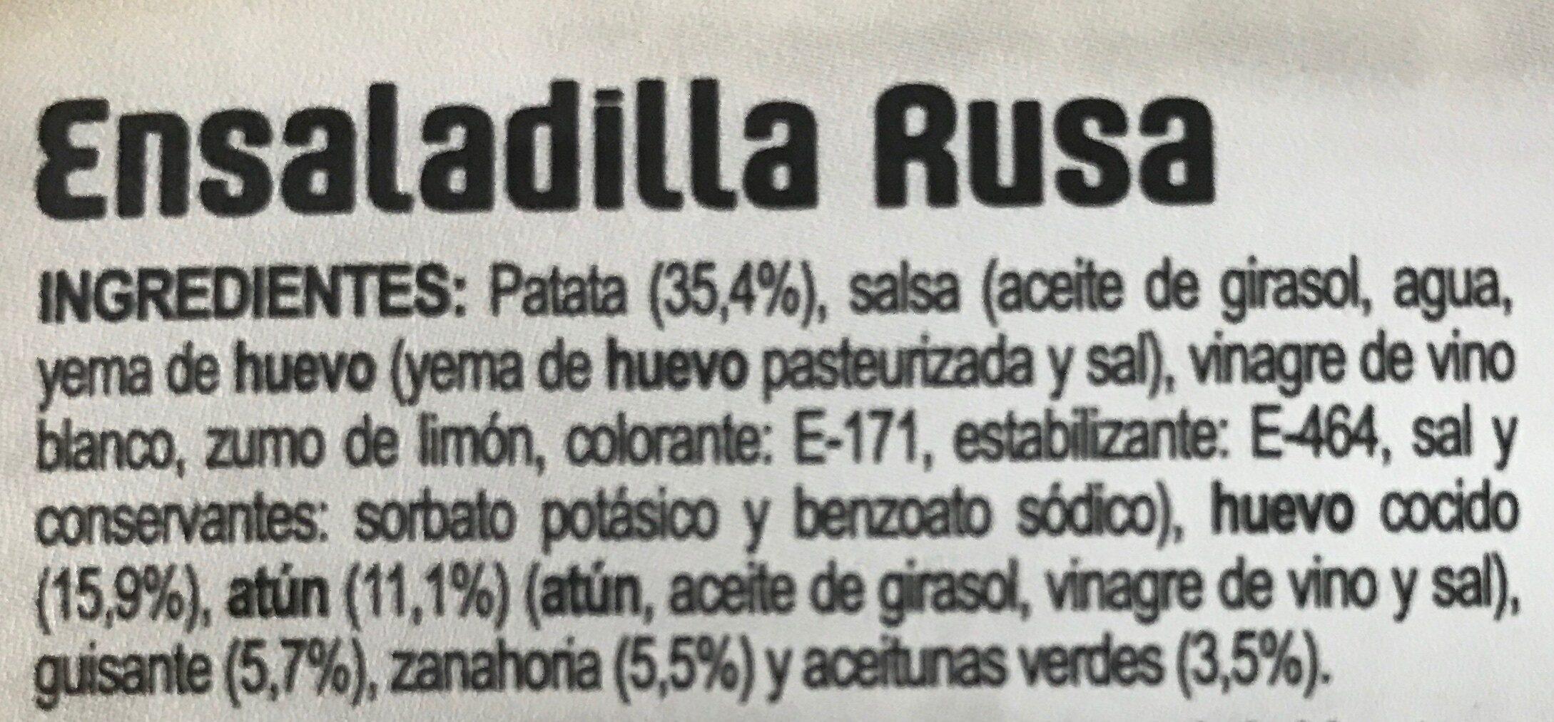 ensaladilla rusa - Ingrediënten