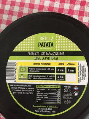 Tortilla Nature - Producto