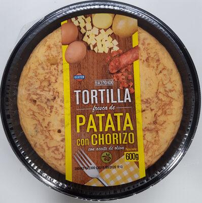 Tortilla de patata con chorizo - Product
