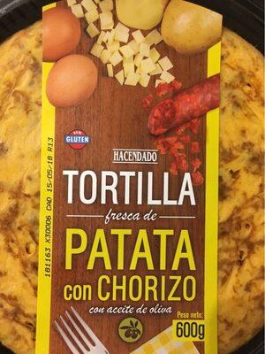 Tortilla Patata con chorizo - Produit - fr