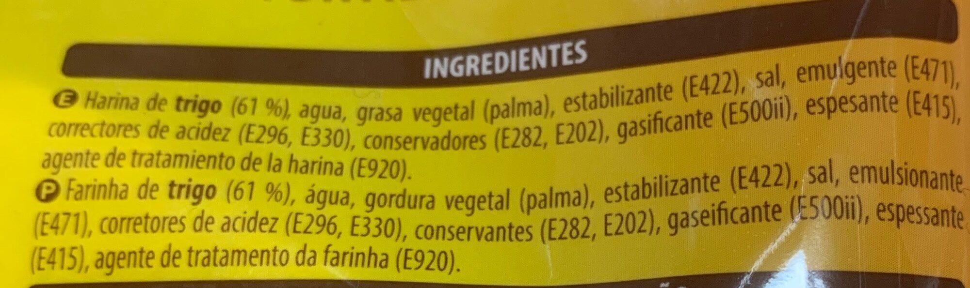 10 Tortillas de Trigo - Ingredientes