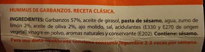 Hummus classic - Ingredientes