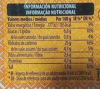 Tabulé Oriental - Informations nutritionnelles - es