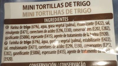 Mini tortillas de trigo - Ingredienti - es