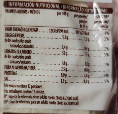 Mini tortillas de trigo - Valori nutrizionali - es