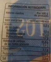 Picos saladitos - Informació nutricional
