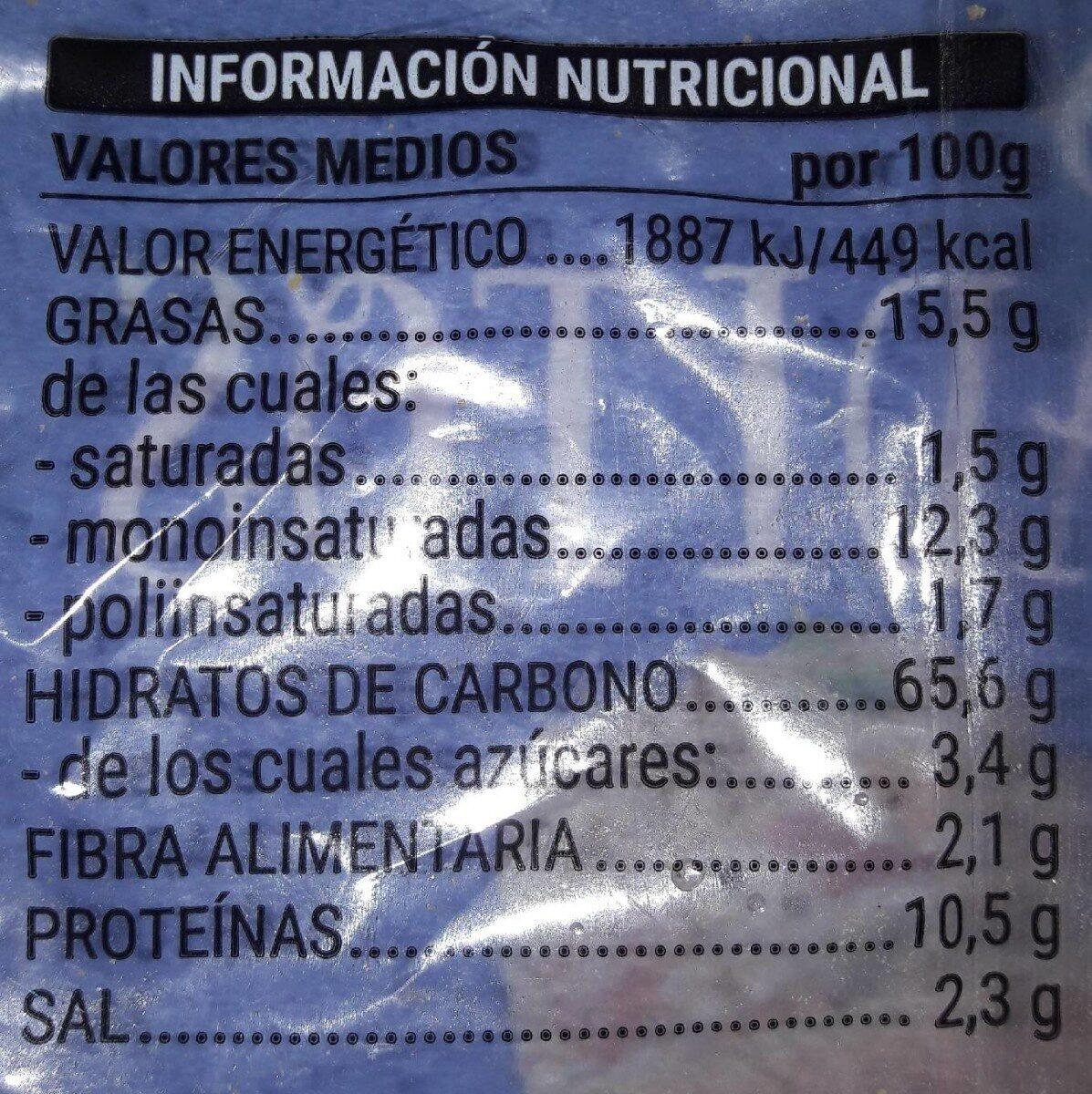 Picos saladitos - Informations nutritionnelles - es