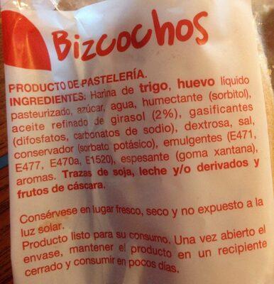 Bizcochos - Ingredientes