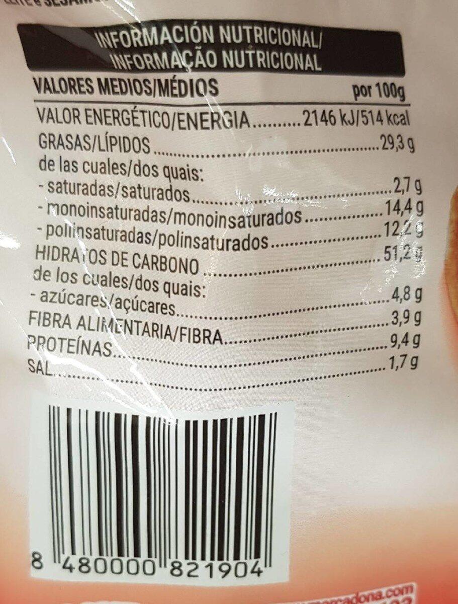 Pan tostado con tomate y orégano - Voedingswaarden - es