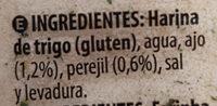 Pan rallado con ajo y perejil - Ingredientes - es