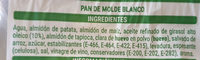 Pan sin gluten - Ingredients