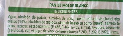 Pan sin gluten - Ingredientes